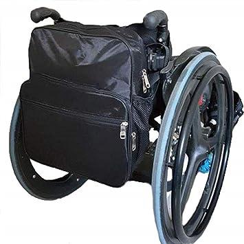 Bolsa de mochila para silla de ruedas - Suministro médico Bolsa de organizador de silla de ruedas con bolsillos con cremallera Accesorio de sillas de ...