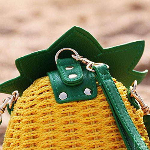 viaggio Borsa borsa ananas uno borsa della Shopping da di estivo paglia Salir del Spalla fresco colinsa viaggio 1EUdd