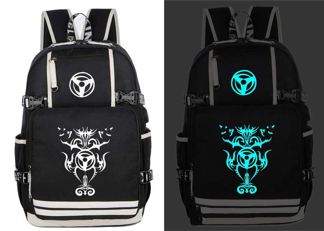 Cosstars Lumineux Naruto Anime Sac /à Dos Cartable Knapsack Laptop Backpack avec USB Charging Port pour /Étudiant