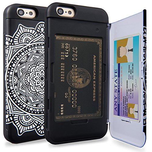 TORU CX PRO iPhone 6S Wallet Case Pattern Mandala with Hidden ID Slot Credit Card Holder Hard Cover & Mirror for iPhone 6S / iPhone 6 - Dreamcatcher
