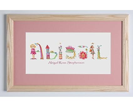 Enmarcado nombre, bebé niña regalo, personalizable, regalo ...