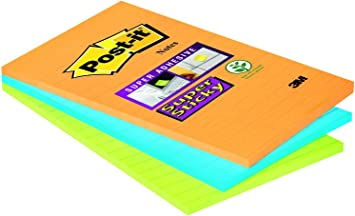 Post-It Super Sticky 46453SSA, Pack de 3 Blocs de Notas Adhesivas ...