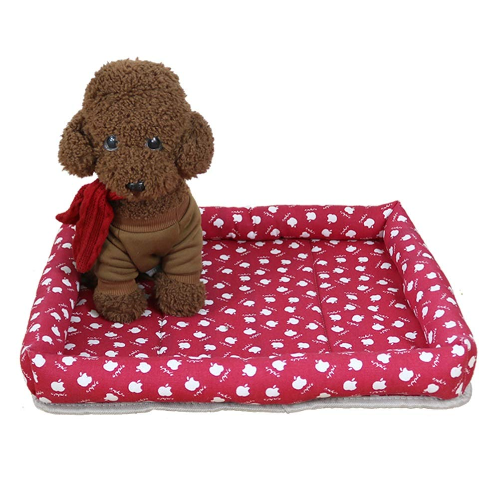 1004S Pet Nest, Summer Kennel Mat Dog Pad Small and Medium Dog Bed Four Seasons Cat Litter Can Be Washed (color   1004S)