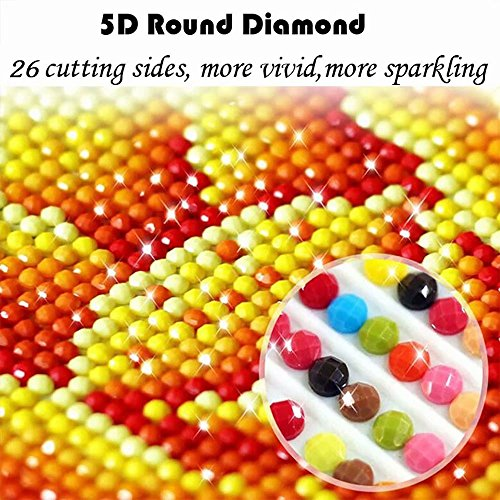 Grace Painter 5D Diamond Painting,Counted Cross Stitch,Rhinestone Painting,American Flag,Paint by Numbers for Kids Art and Craft for Wall Decor,Home Decor by Grace Painter (Image #5)