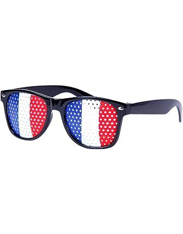 Lunettes à grille à trous Design Drapeau la France Bleu blanc rouge pays  coupe du monde cdd763e06f08