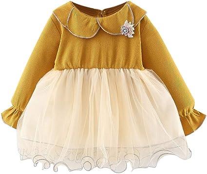 Newborn Clothes Dress Sundress Kids Girls Princess Doll collar Summer Pleated