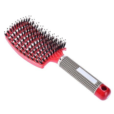 Pretty Ver jabalí cerdas cepillo de pelo cepillo de desenredar delicado duradera con ventilación cepillo de