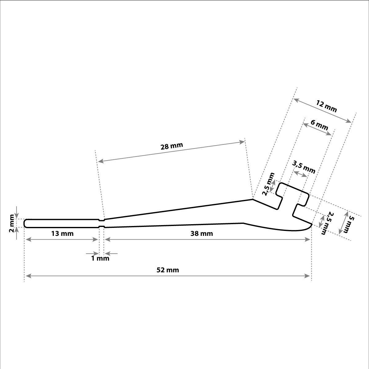 4 m 52x2 mm STEIGNER Guarnizione per Garage SBD03 Nera