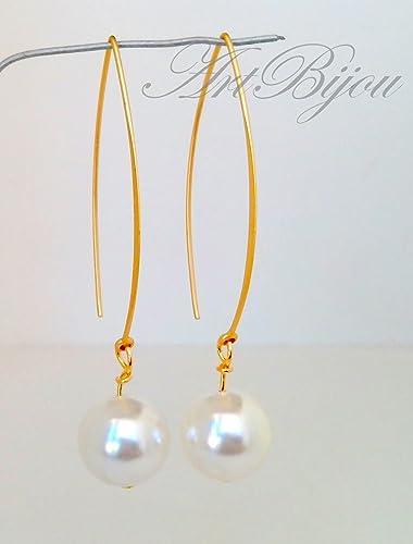 201a409af658 Pendientes Perlas Blancas