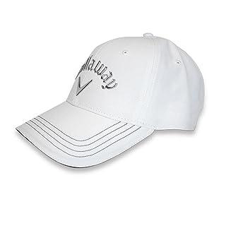 Callaway - Hex, Cappello con visiera, colore: Nero, Bianco (bianco), Taglia unica 884885313642