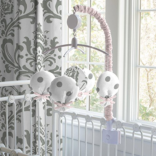 Carousel Designs Pink and Gray Elephants Mobile by Carousel Designs