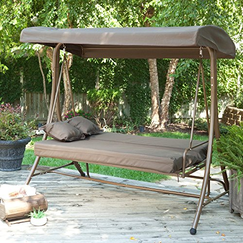 Coral Coast Siesta 3 Person Canopy Swing Bed -