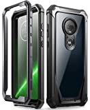 Moto G7 Rugged Clear Case, Poetic Full-Body Hybrid Shockproof Bumper Cover, Built-in-Screen Protector, Guardian Series…