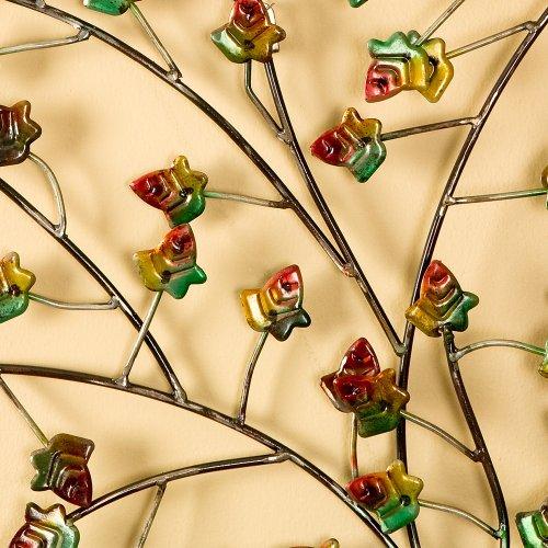 SEI Hand-Painted Metal Autumn-Tree Wall Art