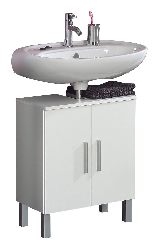 Kesper Badmöbel 2670000004001001 Waschbeckenunterschrank Monaco, 2 Türen, 63 x 50 x 31,3 cm, weiß