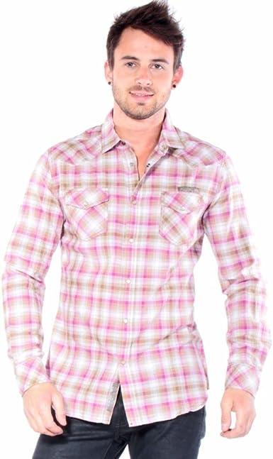 Diesel – Camisa Casual – Hombre – Camisa rosa con cuadros Sulphur para hombre rosa S: Amazon.es: Ropa y accesorios