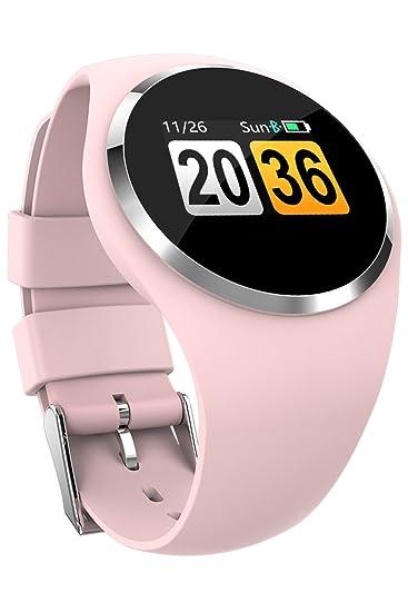Fitness Tracker - Reloj inteligente Bluetooth para hombres, mujeres, frecuencia cardíaca, presión arterial, seguimiento de actividad: Amazon.es: Relojes