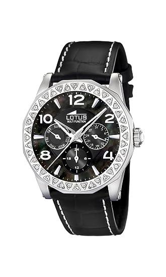 Lotus 15684/3 - Reloj de mujer de cuarzo, correa de piel color negro: Lotus: Amazon.es: Relojes