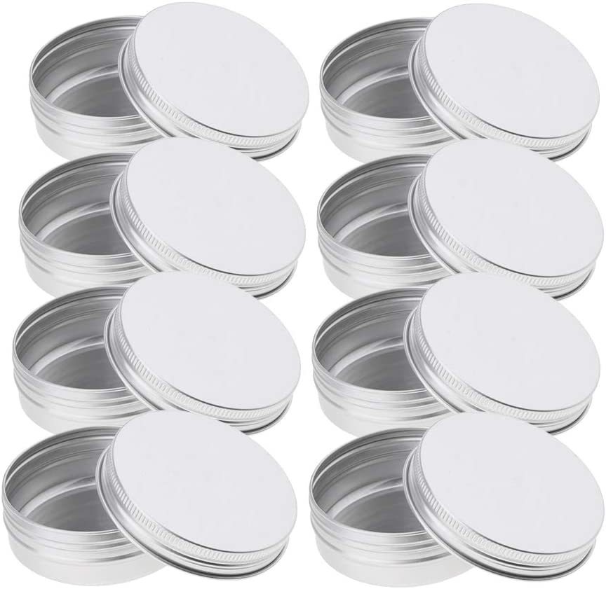 non-brand Sharplace Lot de 8pcs Bougies Rondes en M/étal Pot en Aluminium Rondes /à Couvercle 68x25mm Rose