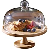 Wooden Cake Tray Natural Dessert Display Stands Fashion Home Party Supermarket Fruit Bread Food Tasting Plate With Dust…