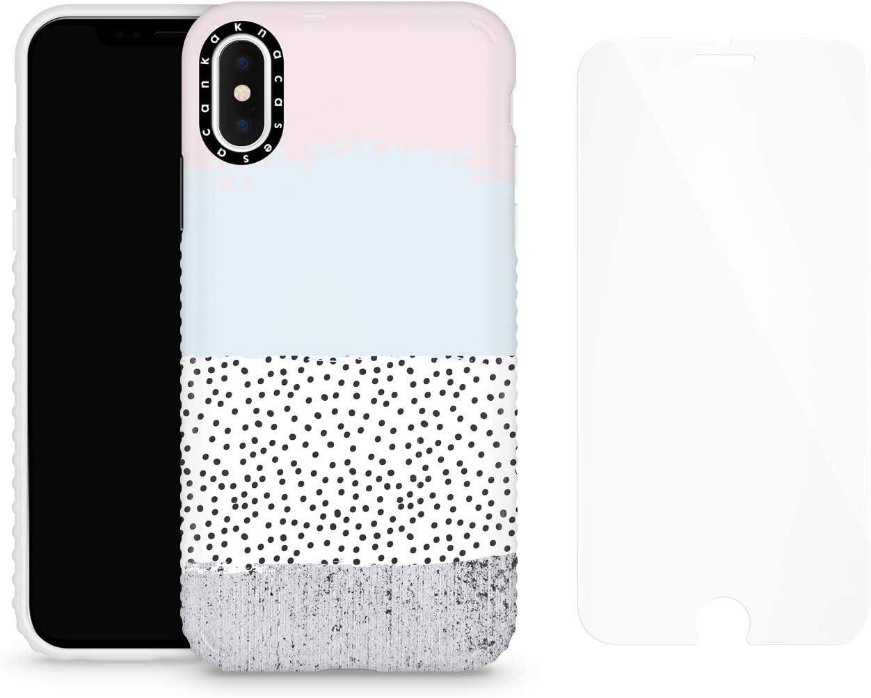 iPhone X & iPhone Xs Case for Girls with Screen Protector, Akna Cat Series High Impact Silicon Cover for iPhone X & iPhone Xs (Design #102429-US)