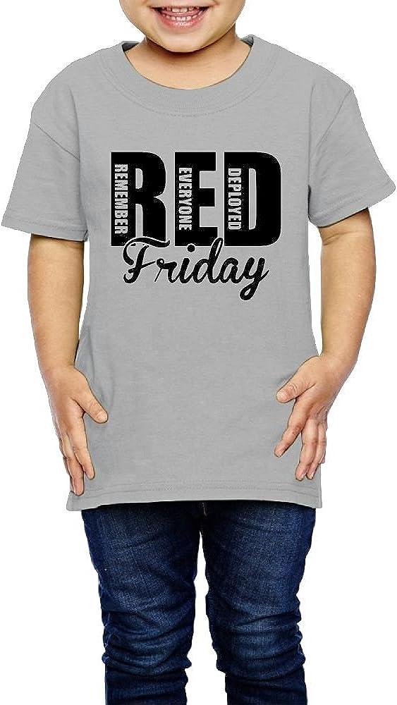 2-6 Years Old Kcloer24 RED Friday Remember Everyone Girls Boys Cute T-Shirt Short Sleeve Tee