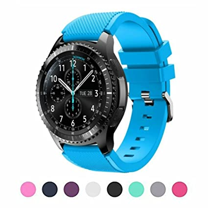Sunface Bands for Gear S3 Frontier / Classic Watch Silicone Bracelet, Sports Silicone Band Strap Replacement Wristband For Samsung Gear S3 Frontier / ...