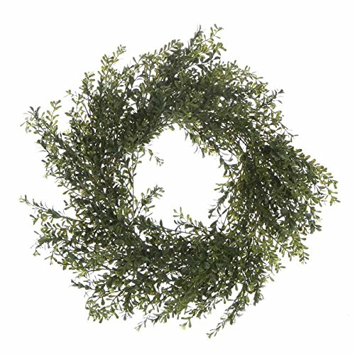 Voluminous Artificial Boxwood Greenery and Twig Wreath fo...