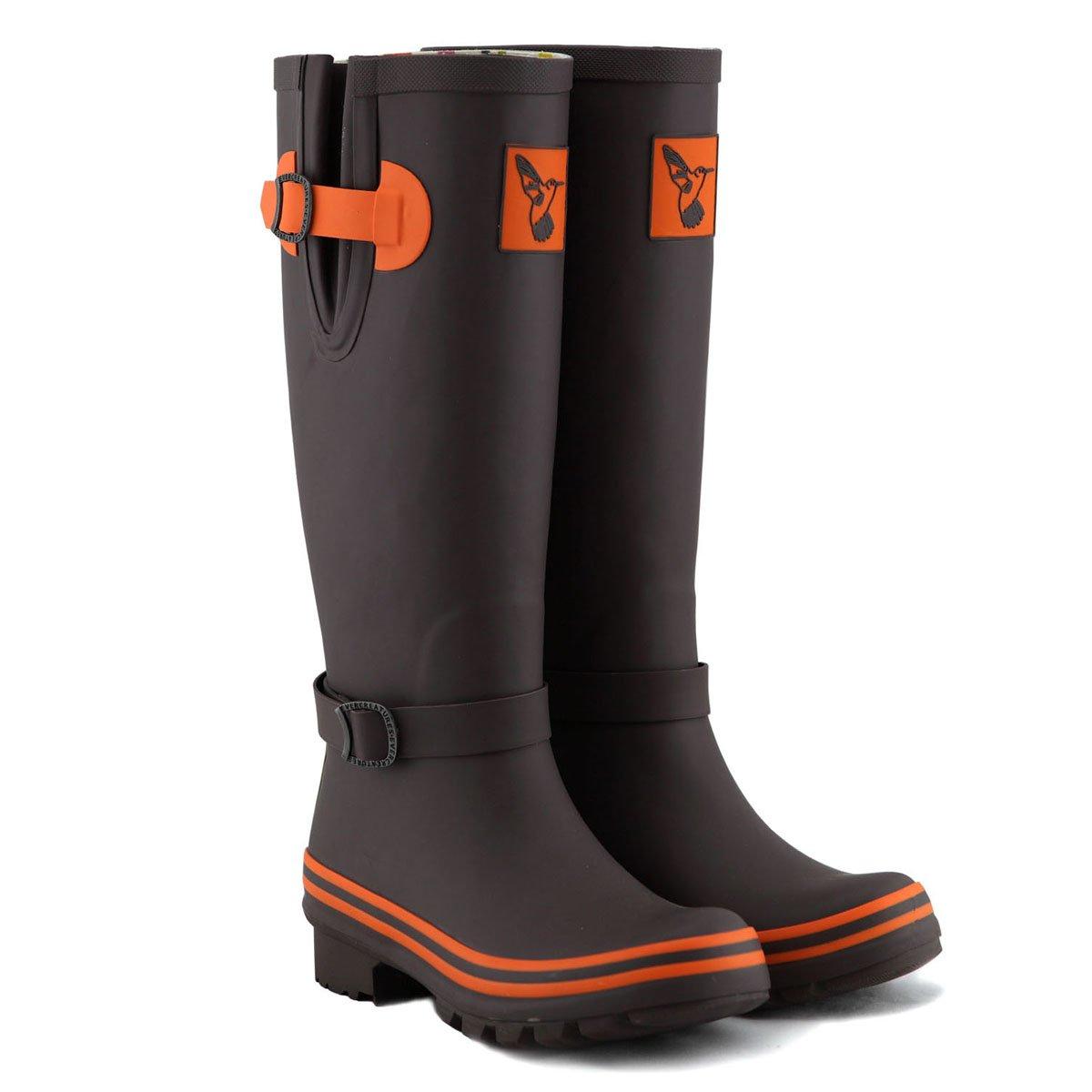 Evercreatures Women's Rain Boots UK Brand Original Tall Rain Boot Gumboots Wellies B00AUE8TPE 9 B(M) US / UK7 / EU40|Brown