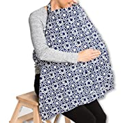MOMsFavour Nursing Cover - Nursing Cover for Breastfeeding - Infant Feeding Cover - Full Coverage, 100% Breathable Soft Cotton, Stylish and Elegant (Red, Big)