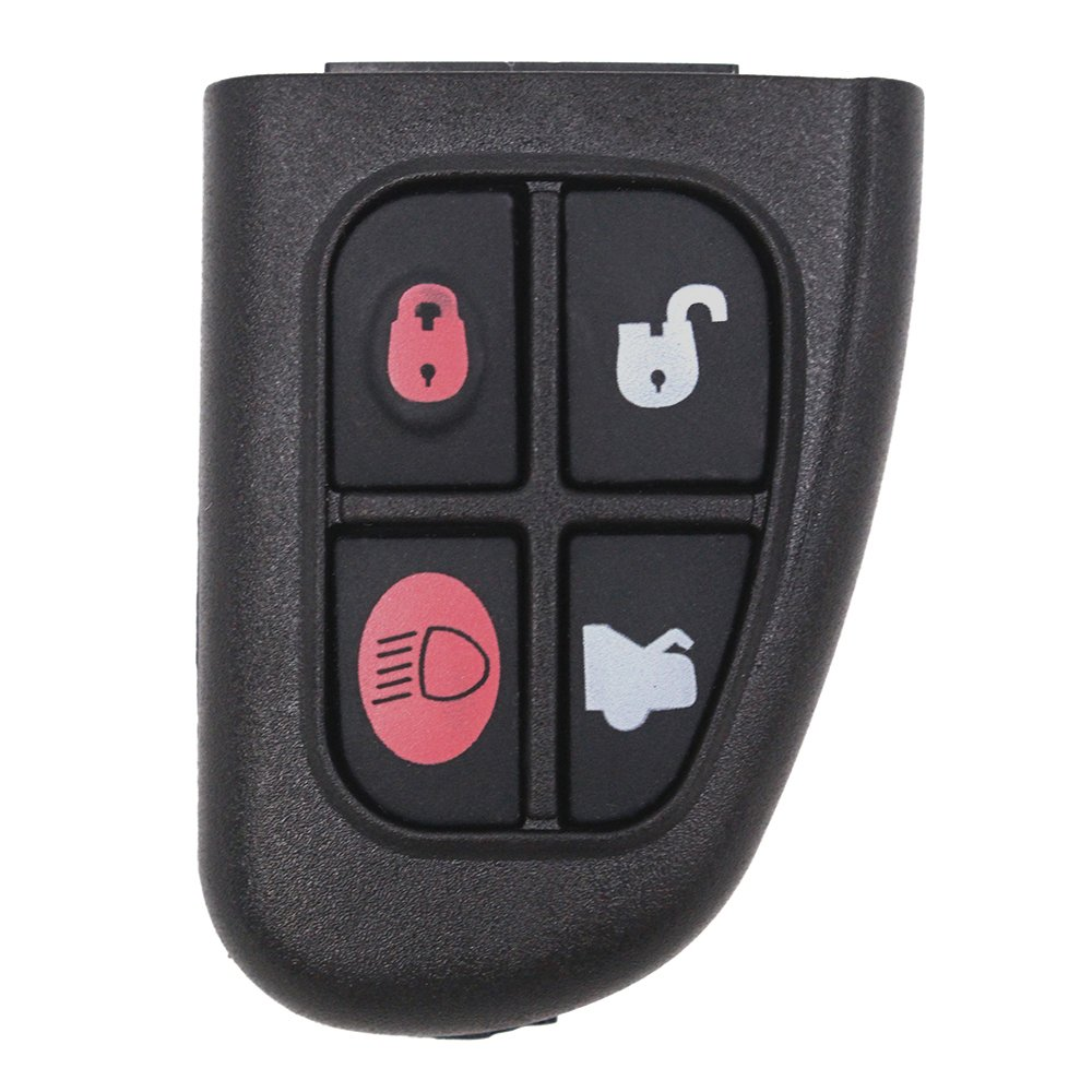 Keyecu Remote Key Fob Bottom 4 Button 433MHz 4D60 Chip for Jaguar X type S type XJ