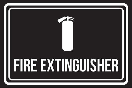 Extintor color negro y blanco negocio comercial seguridad ...