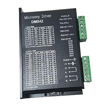 DM542 Controlador de motor paso a paso 2 fases 4.2 A 18 ~ 48 V para 42 57 Motor
