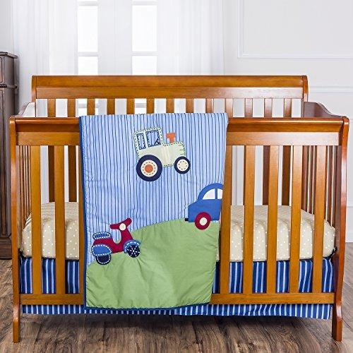 Dream On Me 3 Piece Crib Bedding Set Travel Time [並行輸入品]   B077ZLFZLV