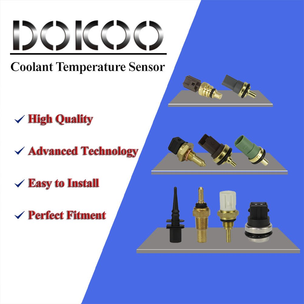 DOICOO Engine Coolant Temperature Sensor Switch Fit 55353807 for Chevrolet Chevy Cruze Sonic Volt Saturn Astra 2008 2009 2011 2012 2013 1.4L 1.8L