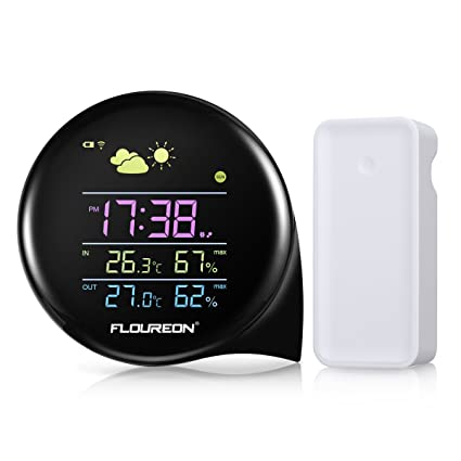 floureon Wireless Weather Station Temperature Humidity Weather Forecast Thermometer