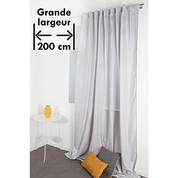 Beliebt Vorhang in Chiné-Optik 200 x 270 cm Extra Breit und Extra Lang mit ZU98