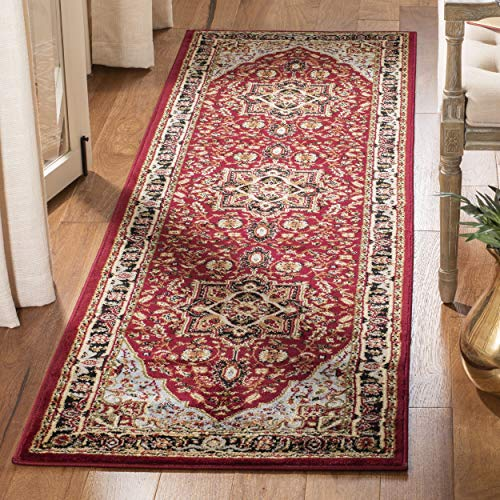 Safavieh Lyndhurst Collection LNH330B Traditional Oriental Medallion Red and Black Runner (2'3