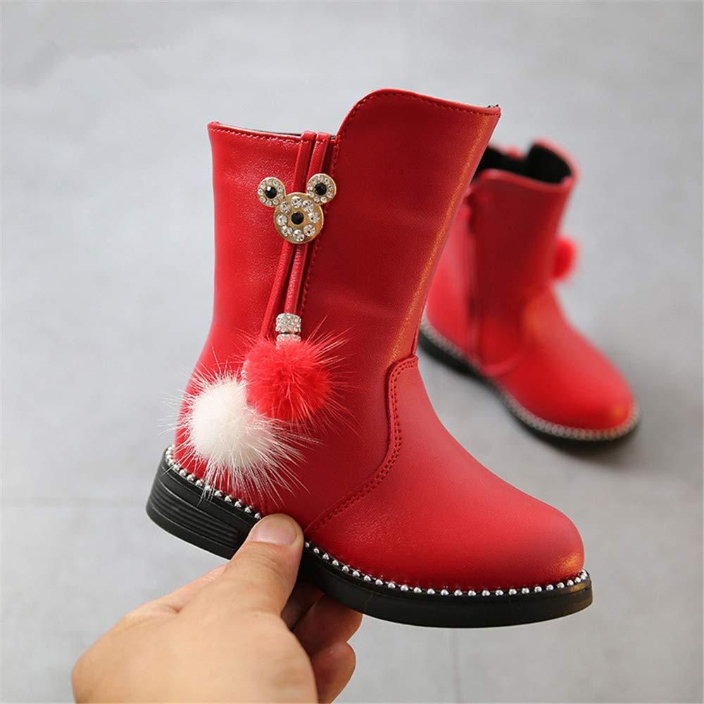 Bloossom Girls Waterproof Side Zipper Plus Velvet Riding Boots Toddler//Little Kid//Big Kid