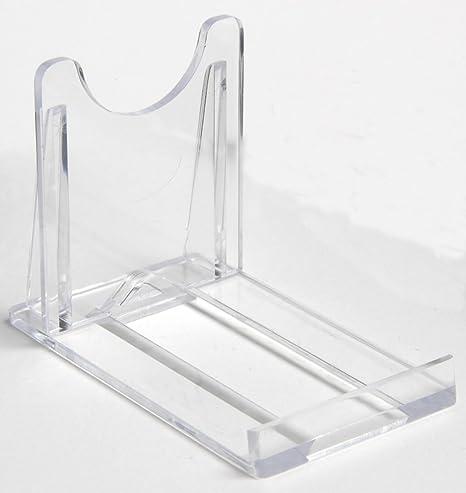 Display Stand  Small Sliding Clear Plastic  5cm 2u0026quot;  Plate Support & Display Stand : Small Sliding Clear Plastic : 5cm 2