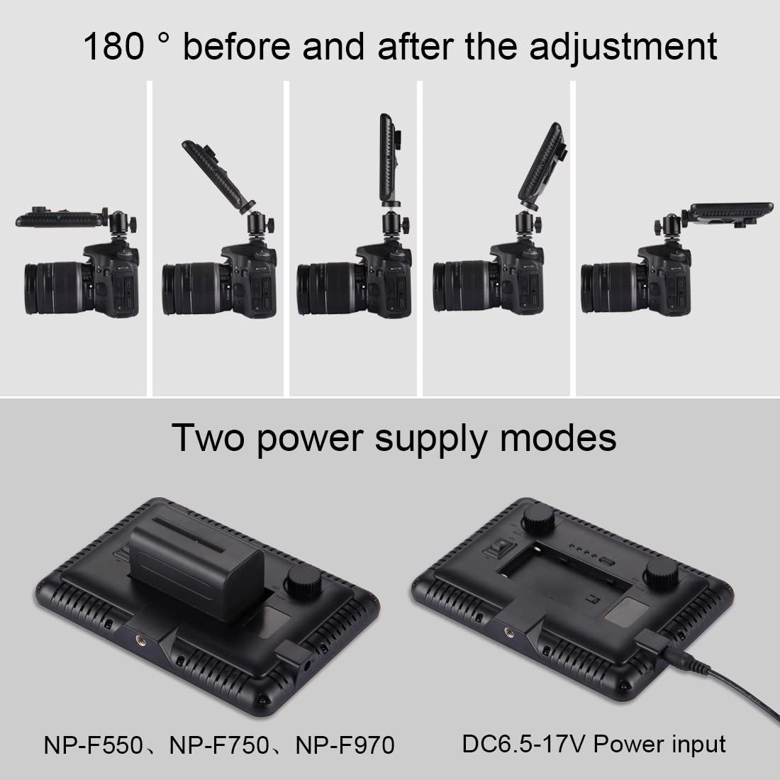 Nikon Protective Case for Sports Camera 152 SMD 2835 LEDs 230-840LM 3000-4500K Dimmable Studio Light Video /& Photo Light for Canon DSLR Cameras