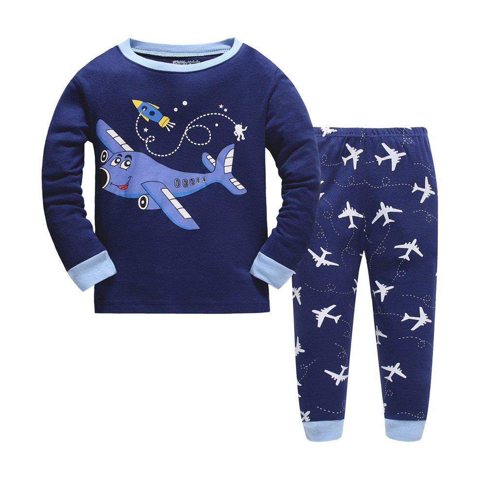 Evelin LEE Dinosaur Little Boys Pajamas Sets 100% Cotton Pjs Toddler Kids