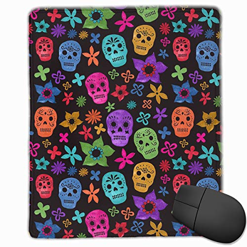 Mouse Pad Halloween Wallpaper Skull Personalized Mouse Pad Non-Slip Mouse Mat Gaming Mouse Pad