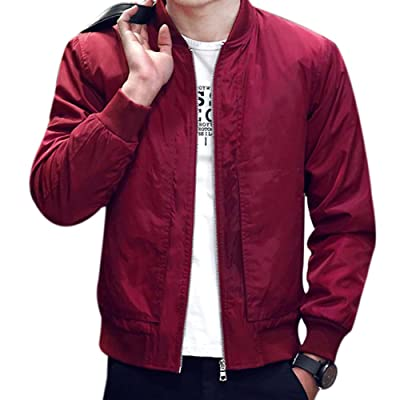 2017 Spring Autumn Men's Jackets Solid Fashion Coats Male Casual Slim Stand Collar Bomber Jacket