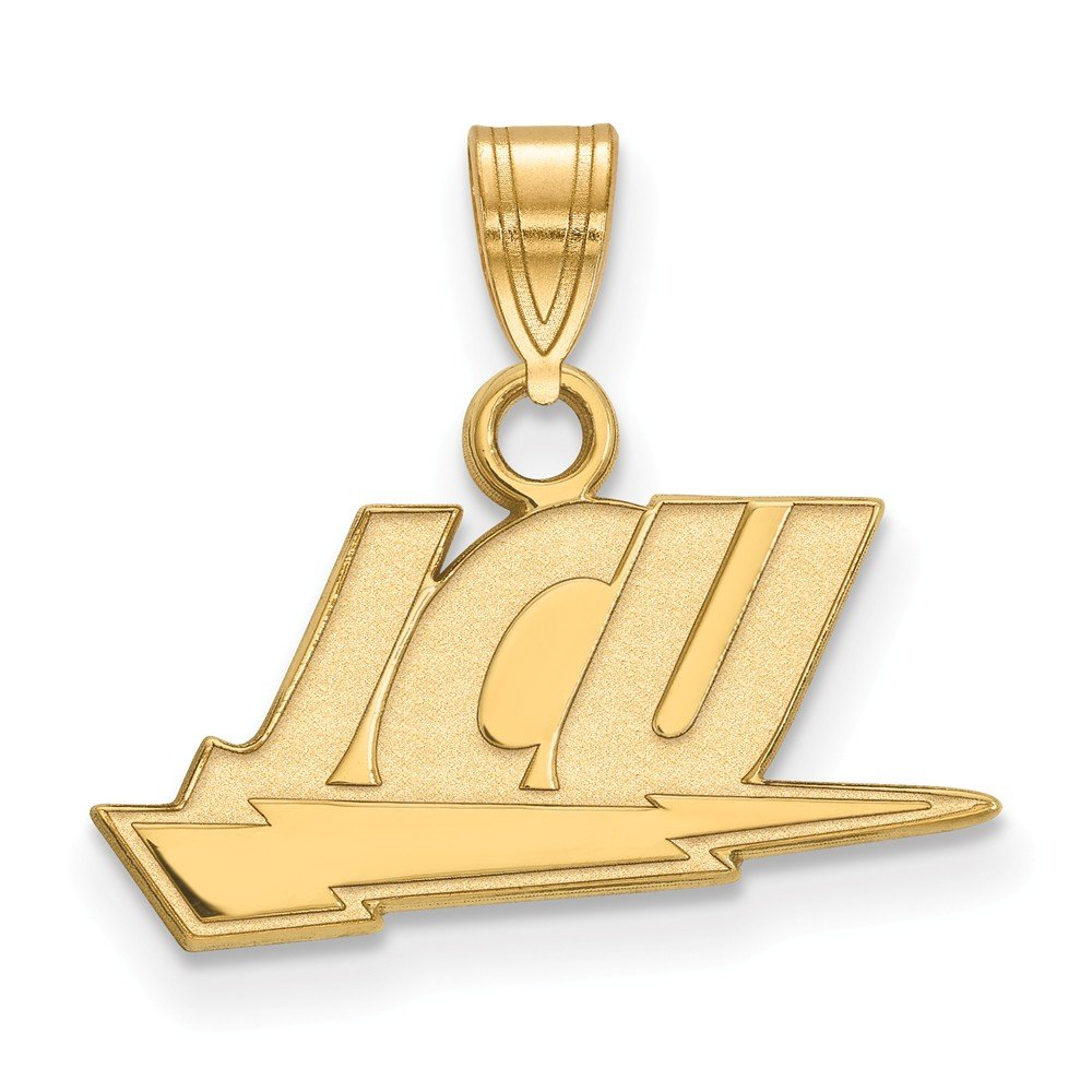 Jewel Tie 925 Sterling Silver with Gold-Toned John Carroll University Small Pendant 18mm x 16mm