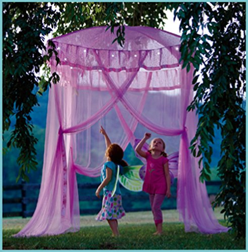 Pink Canopy Bower with Sparkling Lights Lighted