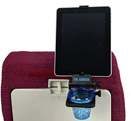 The The Airhook 2.0 - Airline & Vehicle Drink and Device Holder travel product recommended by Craig Rabin on Lifney.