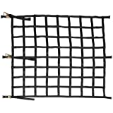 """82""""x82"""" Heavy Duty Cargo Net with Ratchets and Spring E-Fittings"""