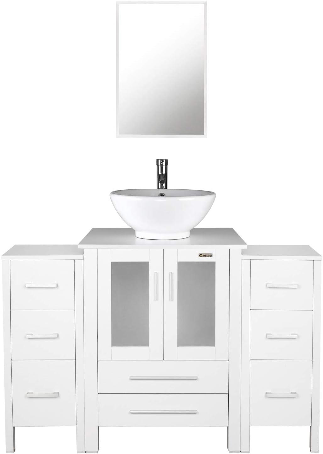 28 Inch Bathroom Vanity Set Modern MDF Stand Pedestal ...