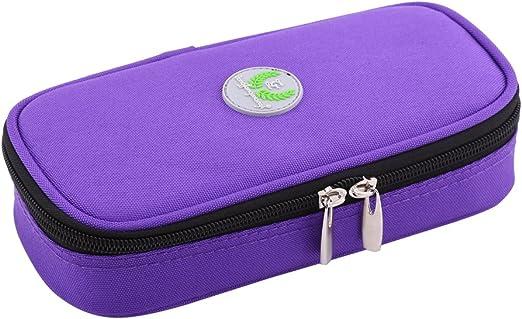 Zerodis - Estuche de Viaje para refrigerador de insulina portátil, Organizador diabético, Bolsa de refrigeración médica para Viajes al Aire Libre (Morado): Amazon.es: Hogar